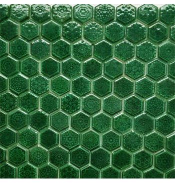 Hexagon mozaïek Emerald...