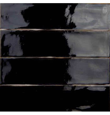 Wandtegel Black 7.5x30cm...