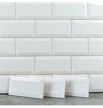 Metro Wandtegel White 7.5x15cm