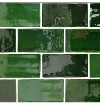 Wandtegel Emerald Green MIX...