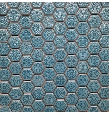 Hexagon mozaïek Turquoise...