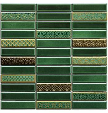 Rechthoekig mozaïek Emerald...