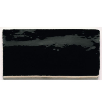 Wandtegel Black 7.5x15cm...